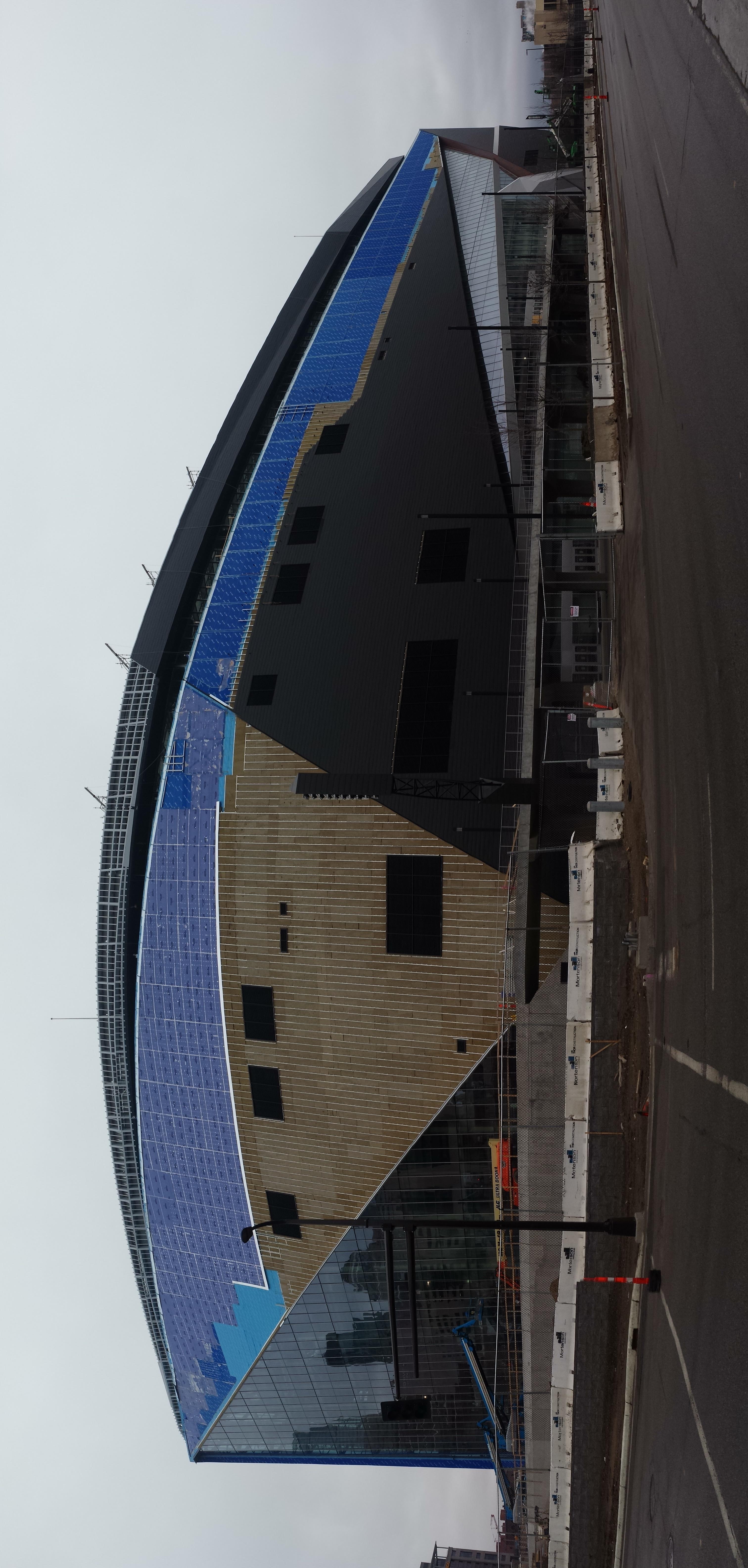 Leaky Gutter Damage To The New Minnesota Vikings Stadium