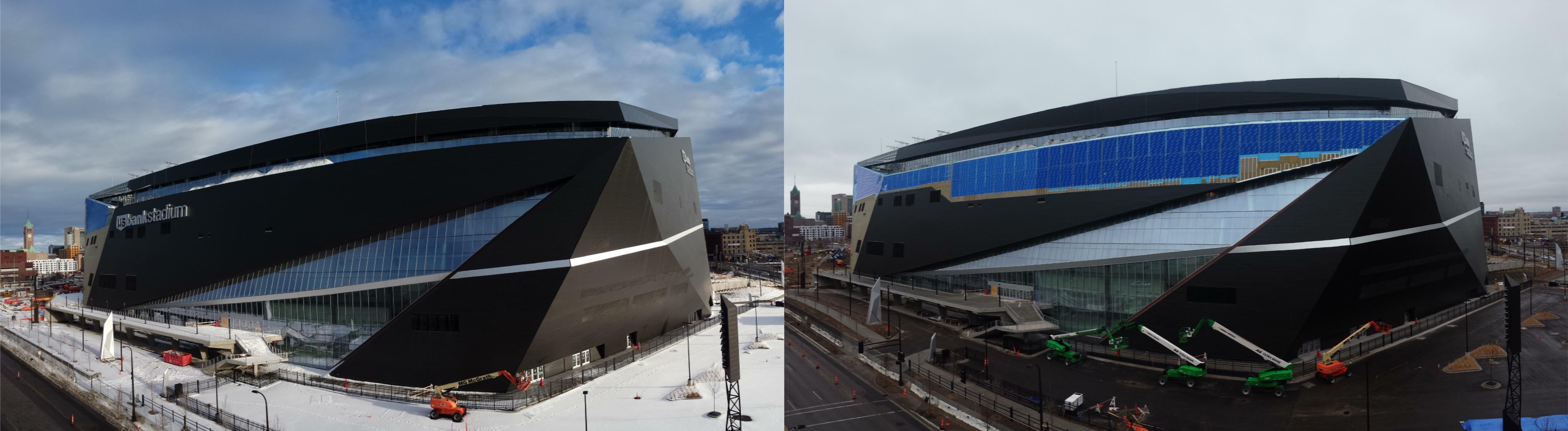 Stadium Snow Damage Comparison 1