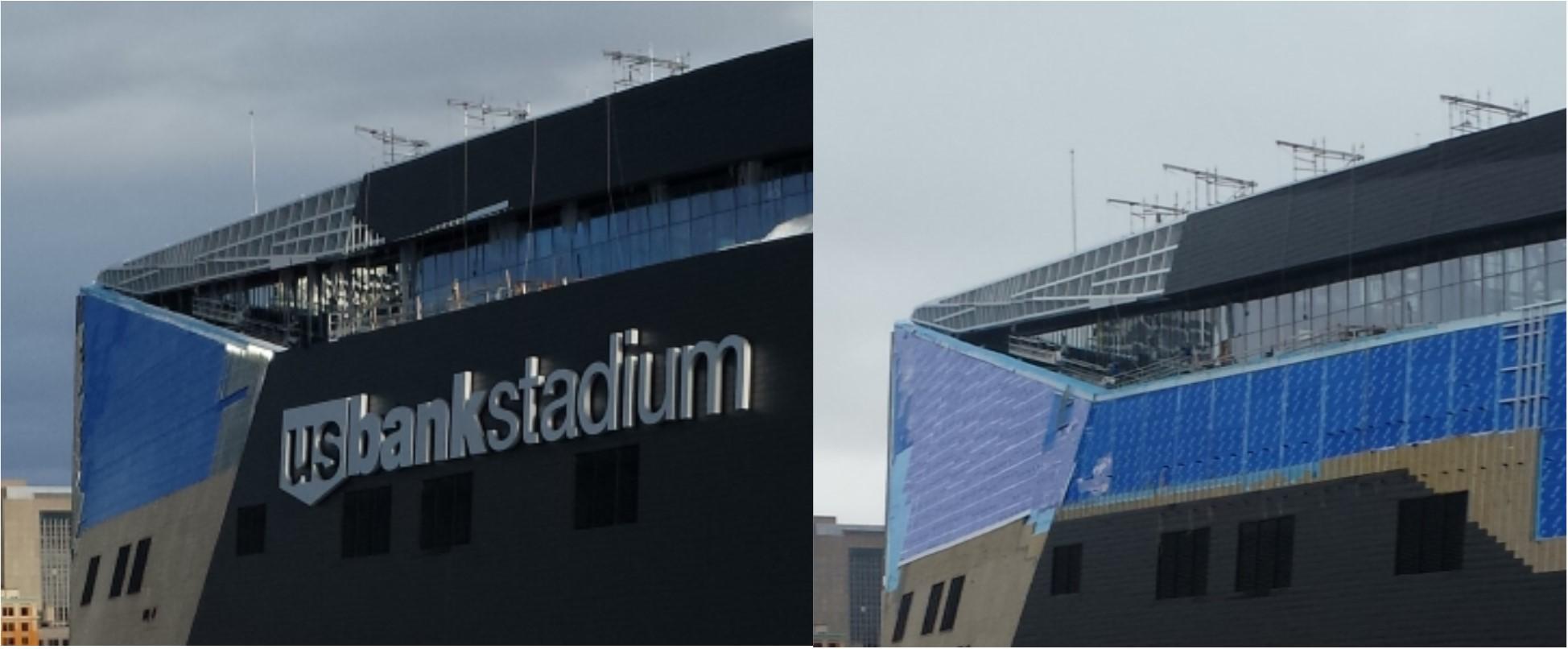 Stadium Snow Damage Comparison 2