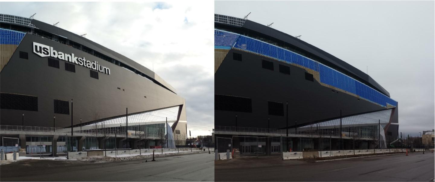 Stadium Snow Damage Comparison 4