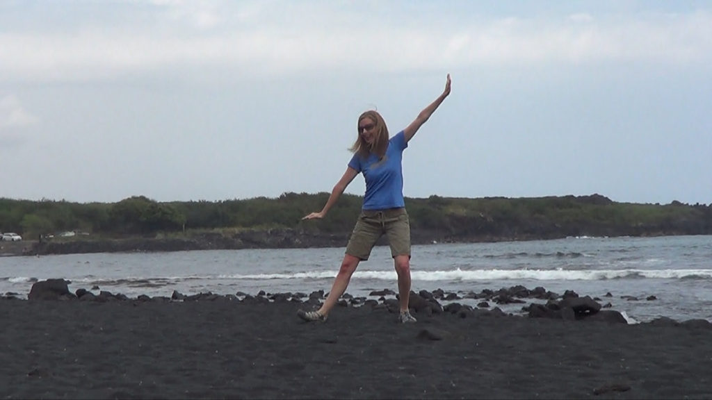 Hawaii Dance 006 - Black Sand Beach near