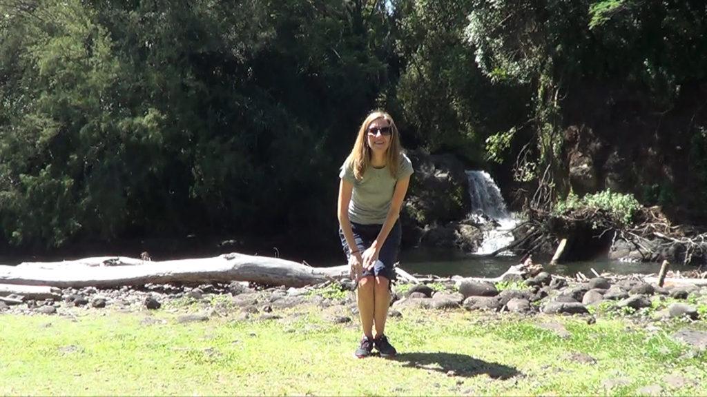 Hawaii Dance 014 - Waterfalls at Kolekole Beach Park