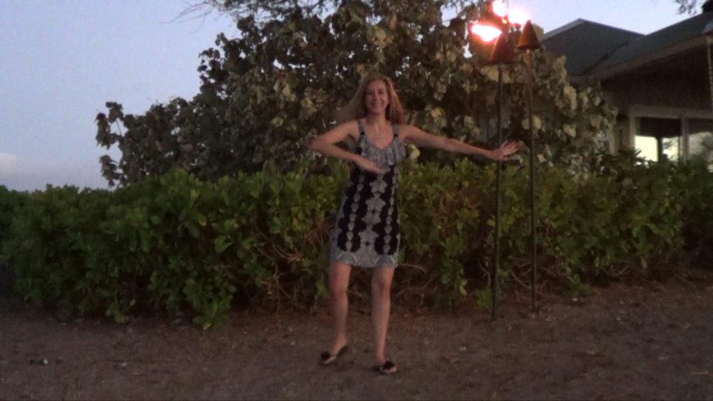 Hawaii Dance 019 - Tiki Lights near 'Anaeho'omalu Beach