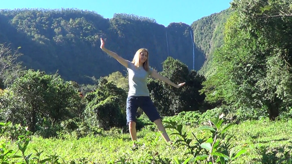 Hawaii Dance 022 - Waterfalls in Waipi'o Valley