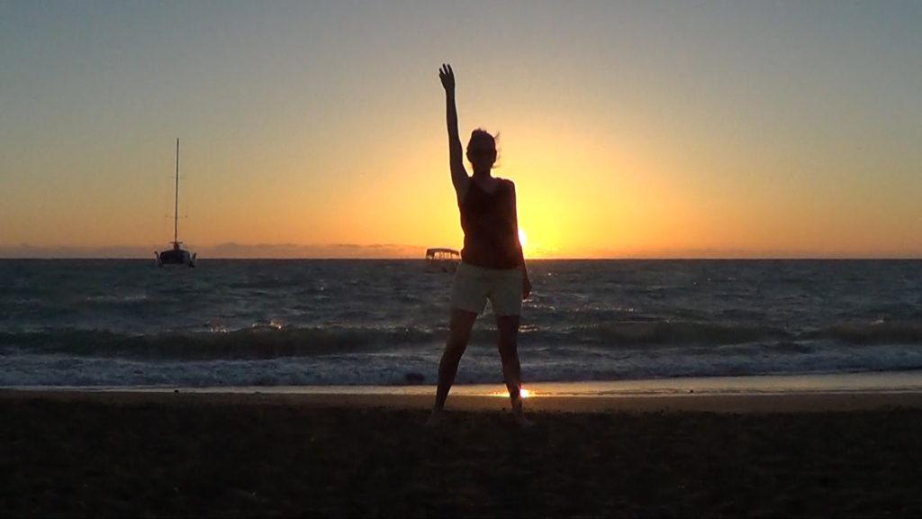 Hawaii Dance 027 - Sunset in 'Anaeho'omalu Bay