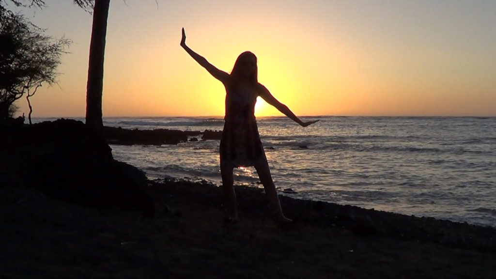 Hawaii Dance 036 - Sunset in 'Anaeho'omalu Bay