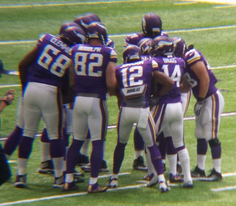 Minnesota Vikings U.S. Bank Stadium First Game - Huddle