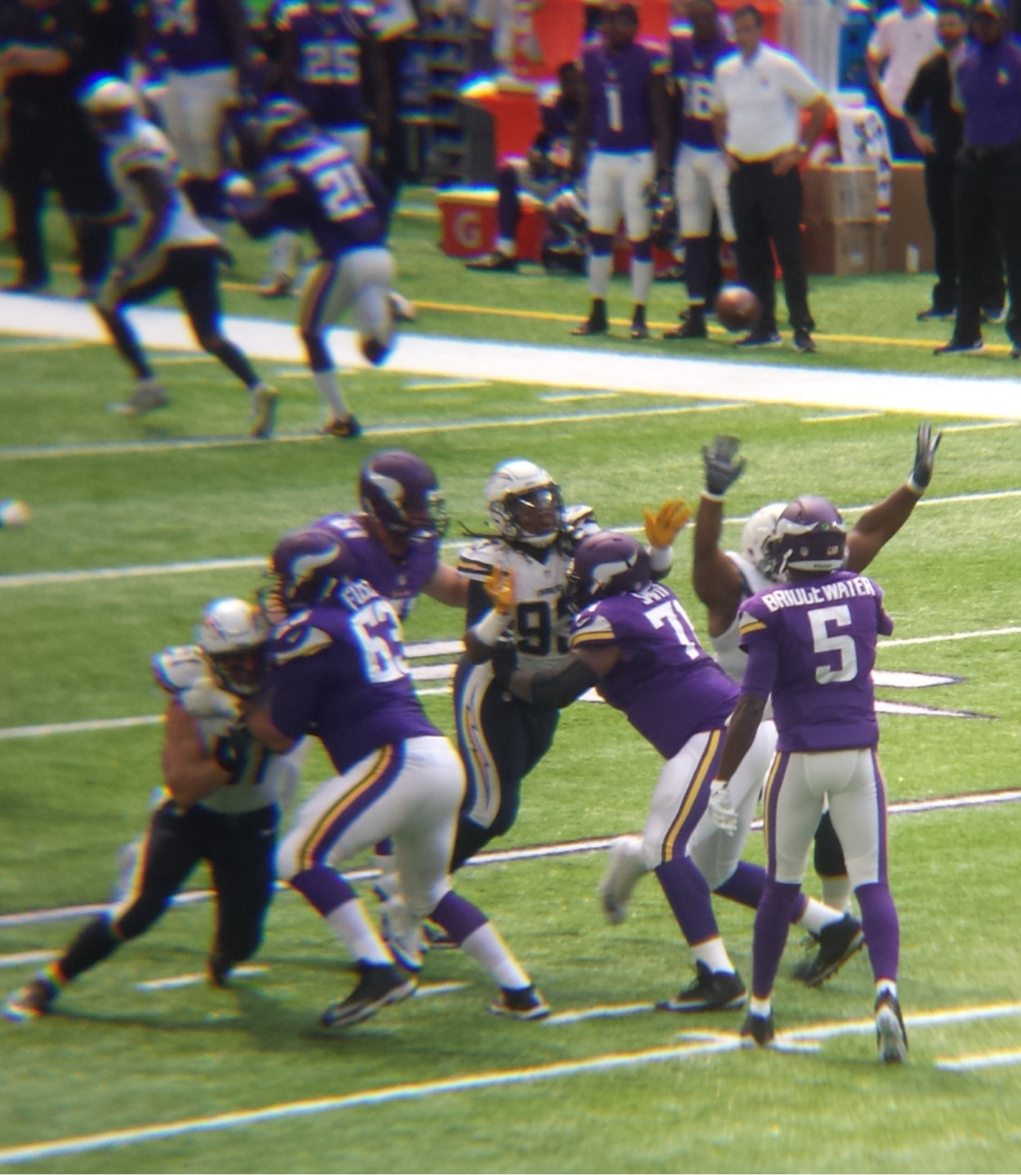 Minnesota Vikings U.S. Bank Stadium First Game - Teddy Bridgewater Pass