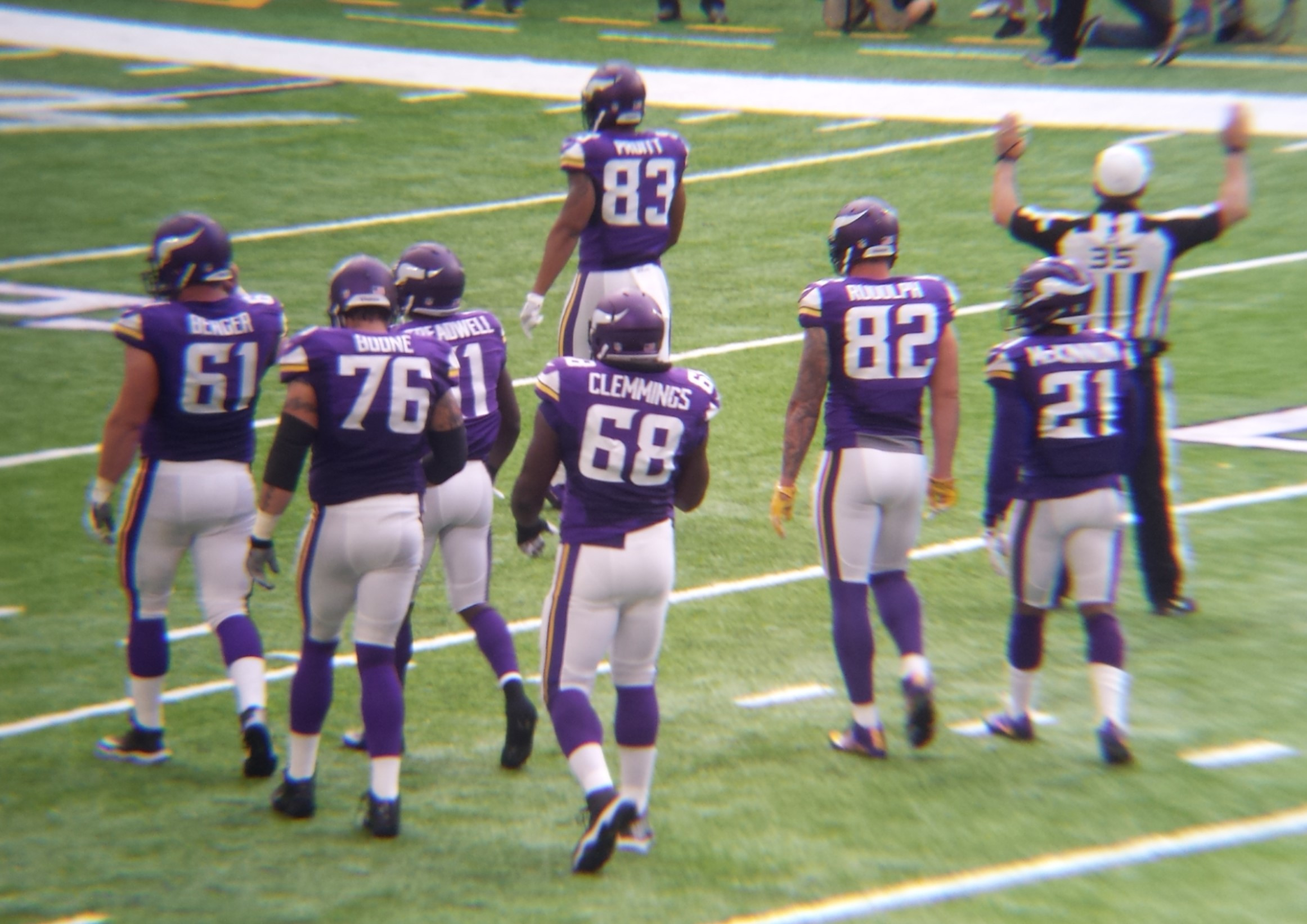 Minnesota Vikings U.S. Bank Stadium First Game - After the Play