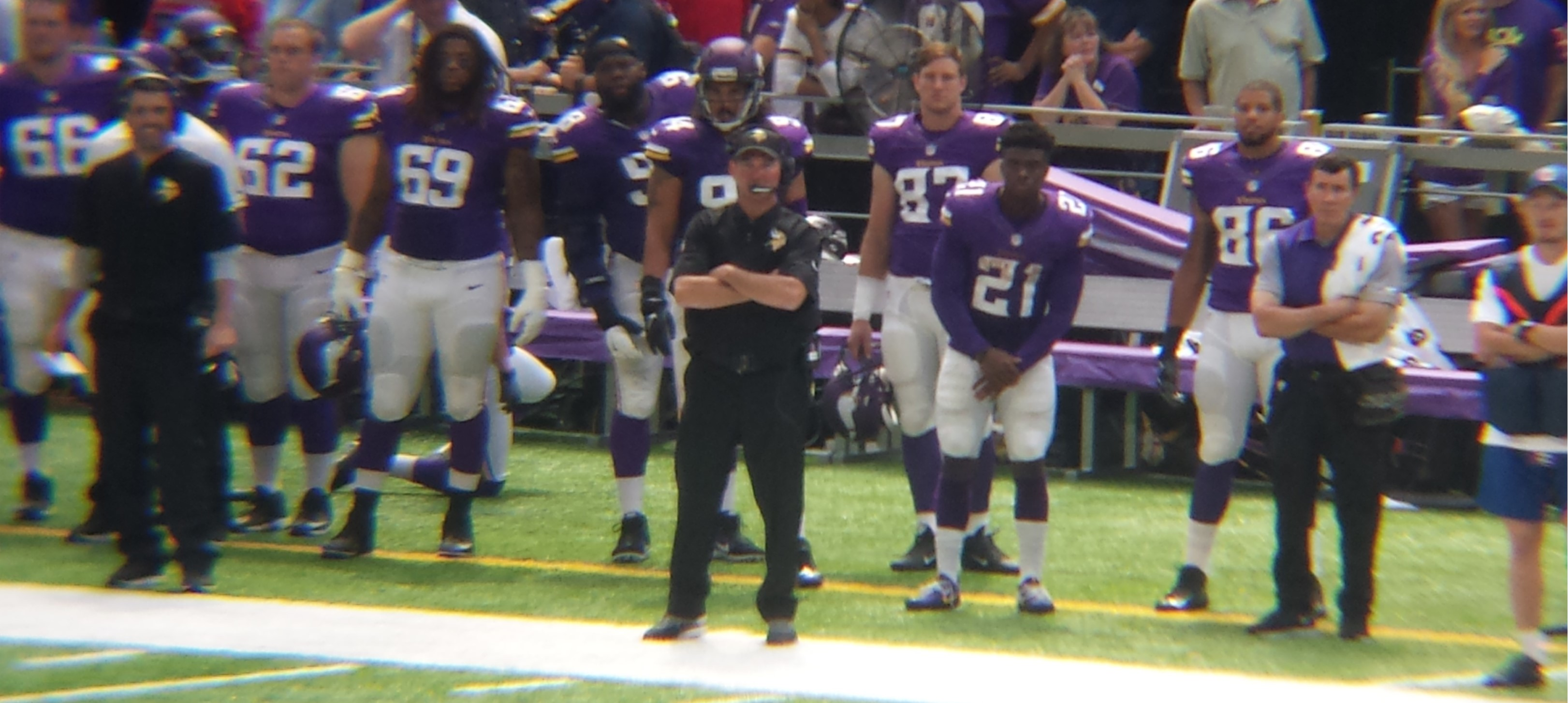Minnesota Vikings U.S. Bank Stadium First Game - Coach Mike Zimmer