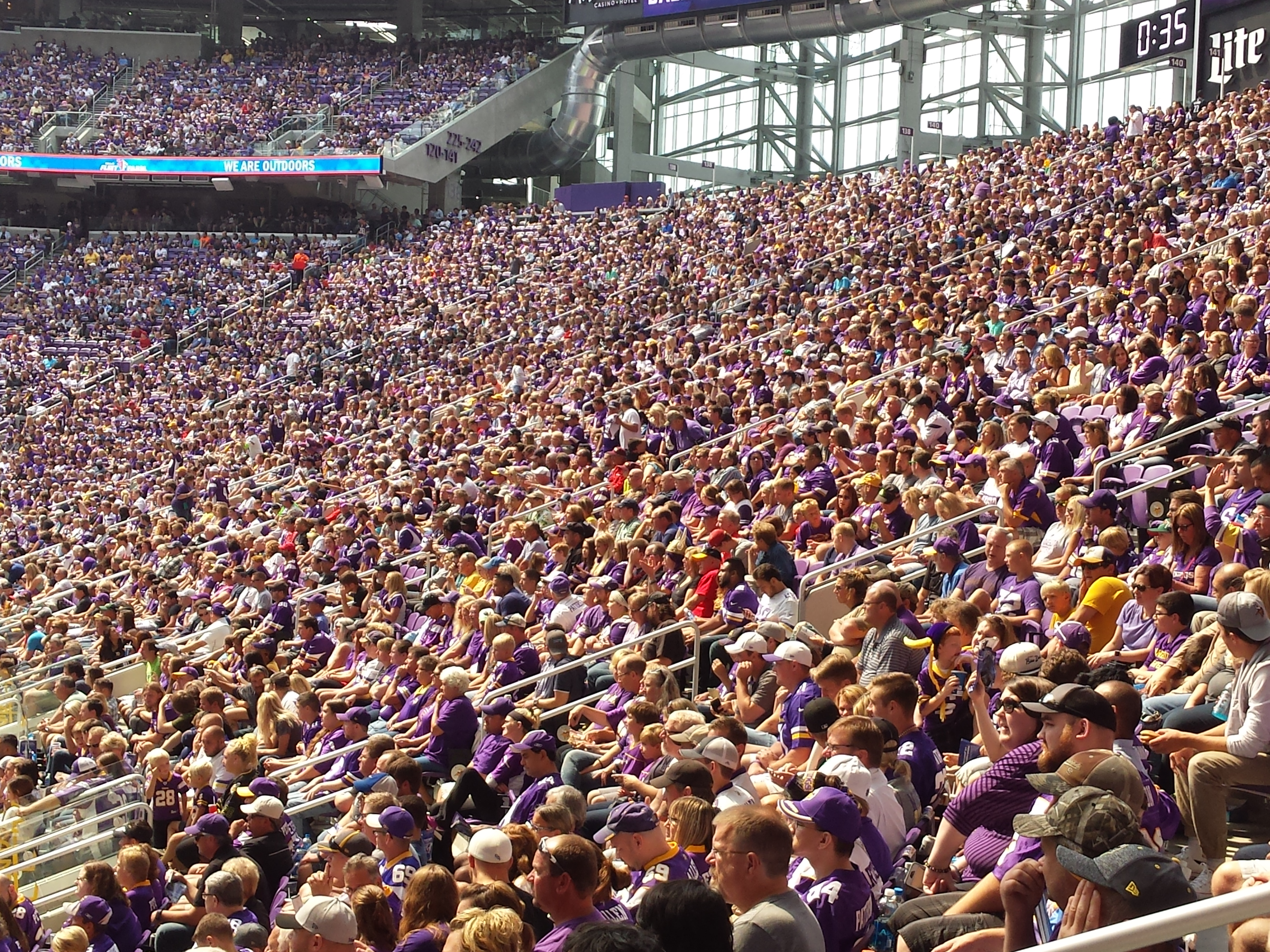 Minnesota Vikings U.S. Bank Stadium First Game - Crowd